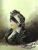 Portrait of A. M. Lanskaya, 1816, orlowski
