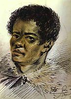 Portrait of a Negro, Orlovski-s Servant, 1823, orlowski