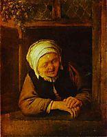 An Old Woman by Window, c.1640, ostadeadriaen