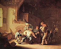 Barber Extracting of Tooth, c.1637, ostadeadriaen