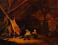 Children Playing in a Barn, 1639, ostadeadriaen