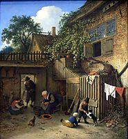 The Cottage Dooryard, 1673, ostadeadriaen