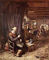 Drinking Peasant in an Inn, c.1670, ostadeadriaen