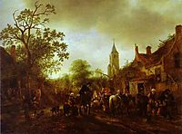 The Halt at the Inn, 1645, ostadeadriaen