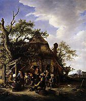 Happy Peasants, c.1645, ostadeadriaen