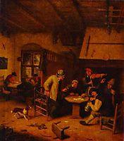 In a Tavern, c.1671, ostadeadriaen