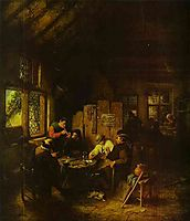 In the Village Inn, 1660, ostadeadriaen
