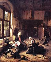 The Interior of a Peasant-s Cottage, 1668, ostadeadriaen