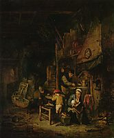 Interior with a Peasant Family, 1647, ostadeadriaen
