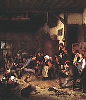 Merrymakers in an Inn, 1674, ostadeadriaen