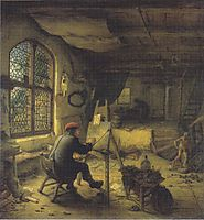The Painter in His Workshop, 1663, ostadeadriaen