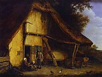 A Peasant Family Outside a Cottage, ostadeadriaen