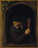 Peasant at a Window, 1662, ostadeadriaen