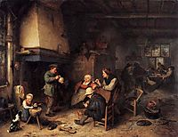 Peasants in an Interior, 1661, ostadeadriaen