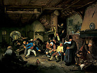 Peasants Dancing in a Tavern, ostadeadriaen