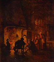 A Talk at Fireplace, c.1640, ostadeadriaen