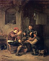 Three Peasants at an Inn, 1647, ostadeadriaen