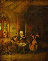 Village Musicians, 1655, ostadeadriaen