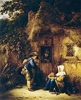Traveller at a Cottage Door, 1649, ostadeisaac
