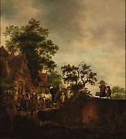 Travellers Halting at an Inn, 1645, ostadeisaac