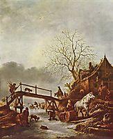 A Winter Scene, c.1645, ostadeisaac