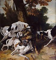 L-hallali du loup, 1725, oudry