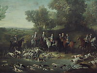 Louis XV Hunting Deer in the Saint-Germain Forest, 1730, oudry