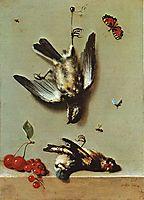 Nature morte avec oiseux morts et cerises, 1712, oudry