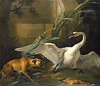 Swan Attacked by a Dog, 1745, oudry