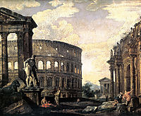 Ancient Roman Ruins, 1750, panini