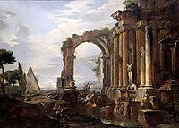 Capriccio of Classical Ruins, 1730, panini