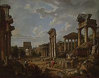 A Capriccio of the Roman Forum, 1741, panini