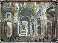 Interior of St. Peter-s, Rome, 1755, panini