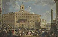 The Lottery at Palazzo Montecitorio, 1747, panini