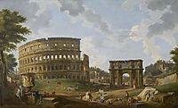 View of the Colosseum, 1747, panini