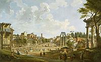 View of the Roman Forum, 1747, panini