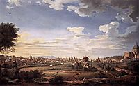 View of Rome from Mt. Mario, in the Southeast, 1749, panini