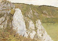The cliffs at the Lesse, 1878, pantazis