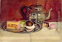 Still Life with Cakes and a Silver Teapot, pantazis
