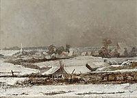 Village sous la neige (Vallée de la Meuse) , 1878, pantazis