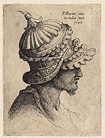 Extravagantly ornamental helmet, parmigianino