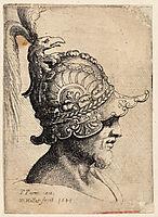 Helmet with eagle, parmigianino