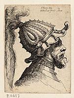 Helmet with wavy brim, parmigianino