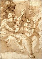 Holy Family with Shepherds and Angels, parmigianino