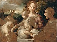 Mystic Marriage of St Catherine, 1527, parmigianino