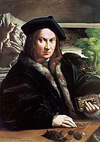 Portrait of a gentleman wearing a beret, parmigianino