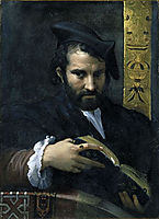 Portrait of a Man with a Book, parmigianino