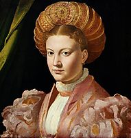Portrait of a young woman, possibly Countess Gozzadini, c.1530, parmigianino