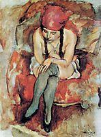 Claudine Resting, 1913, pascin