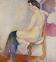 Seated Nude with Black Stockings, 1906, pascin